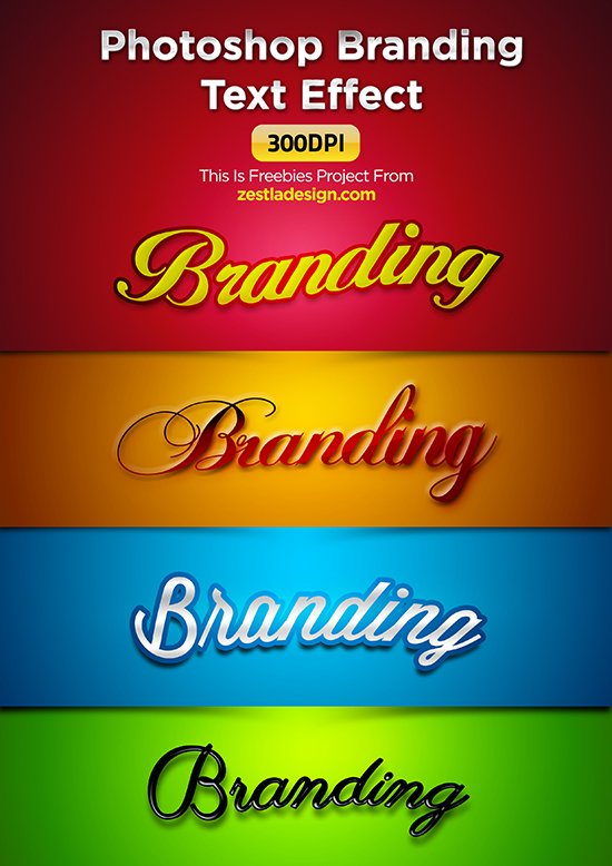 Photoshop Branding Text Effect