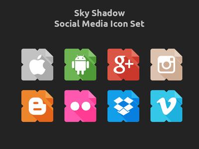 Sky Shadow Social Icons