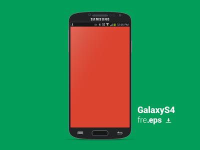 Galaxy S4 vector template