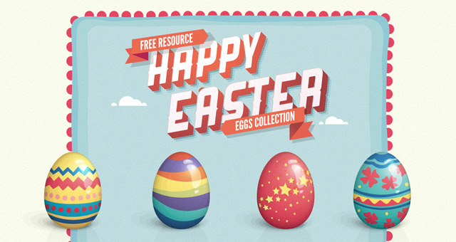 Vector Easter Eggs Set