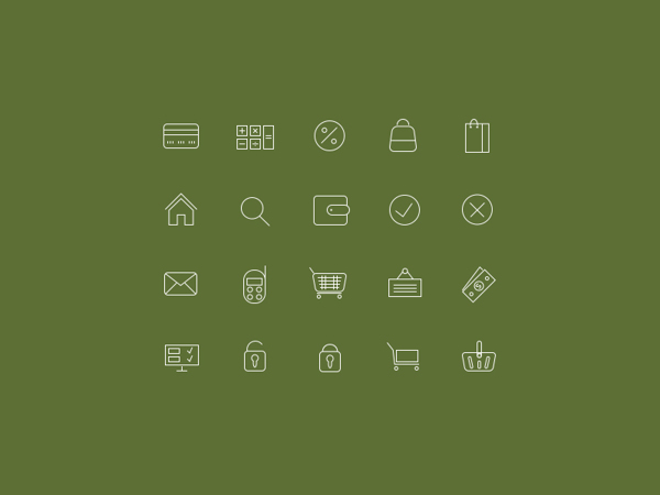 20 icons for online stores