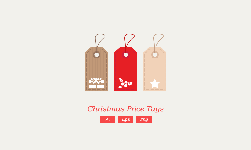 Christmas Vector Price Tags