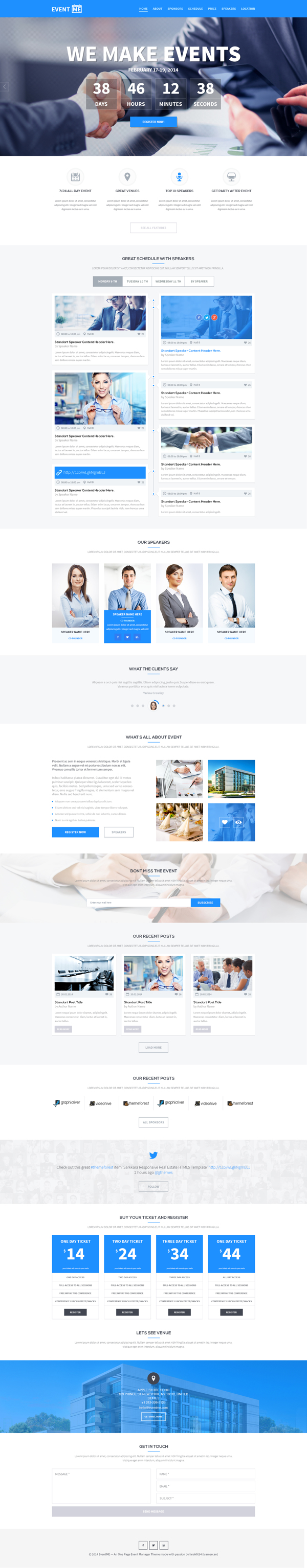 EventME - One Page Event Manager PSD Theme