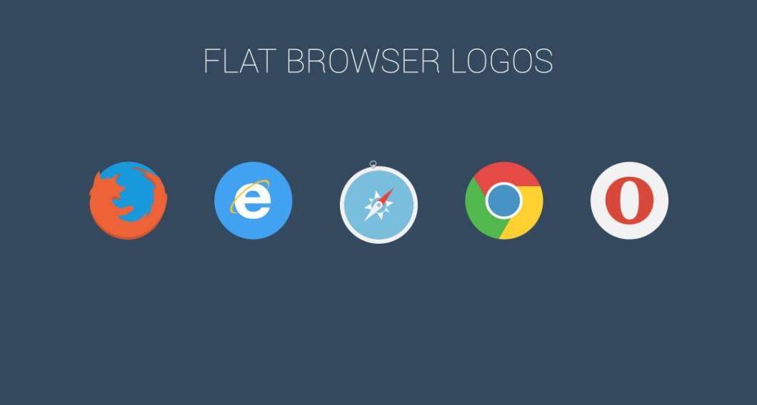 FREE Flat Browser Logotypes