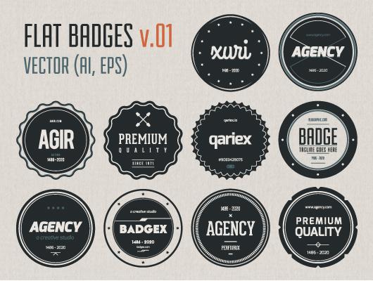 Flat Badges V.01