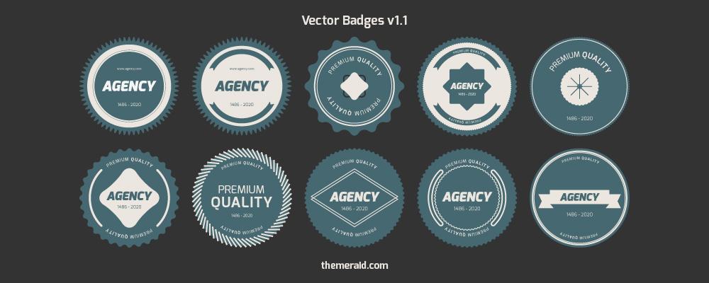 Flat Vector Badges