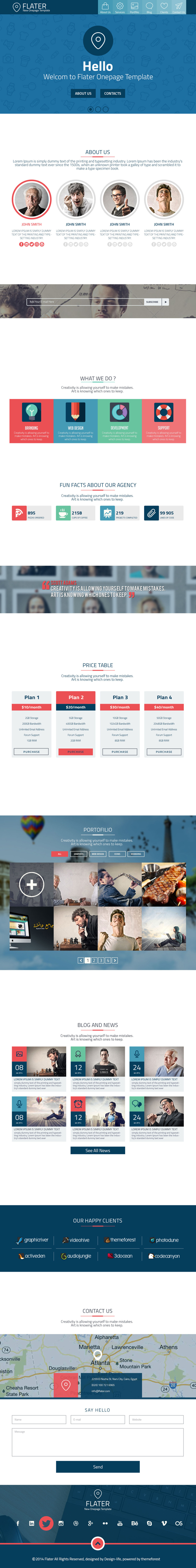 Flatter New One Page Template