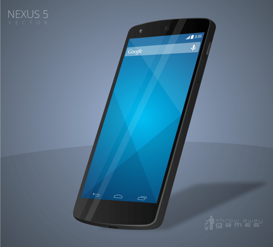 Free Nexus 5 Vector Downloadable AI