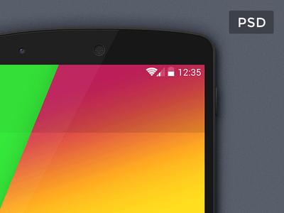 Google Nexus 5 Mockup PSD