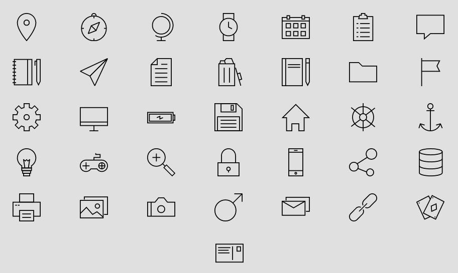 120+ Best Free Line (Stroke) Icon Packs For UI/UX Design (2019