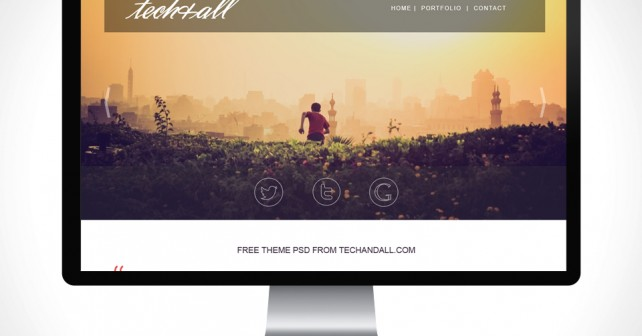 One Page Portfolio Psd Template