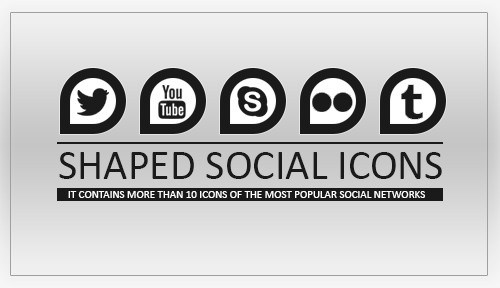 Shaped Social Icons