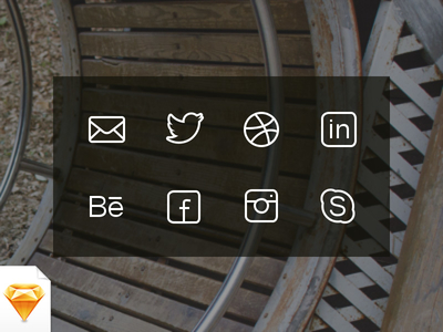 Social & Get in Touch Icons