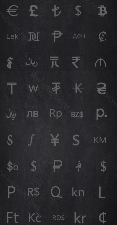 45 Currency Vector Icons