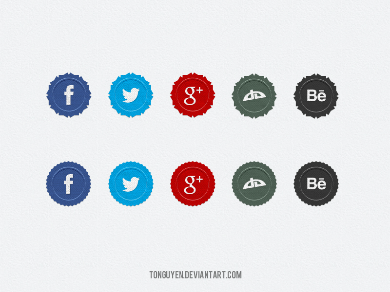 Social Media Badges Icons