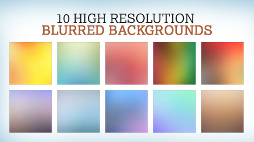 10 Free High Resolution Blurred Backgrounds