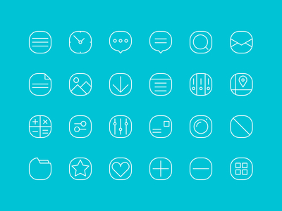 20+ Simple Line Icons