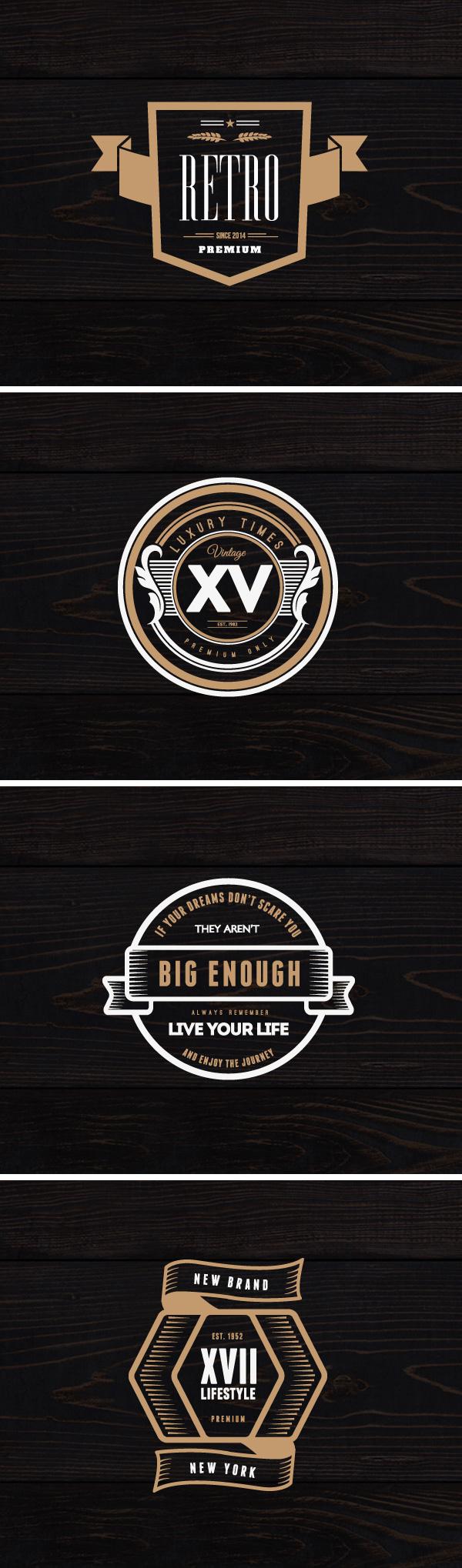 4 Vintage Logos & Badges
