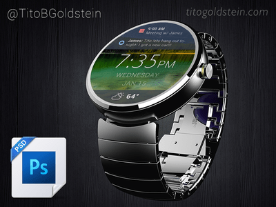 Android Wear - Wearable Mockup