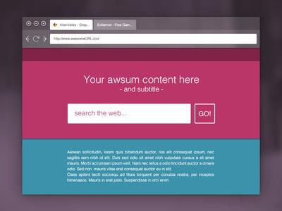 Flat Browser Mockup