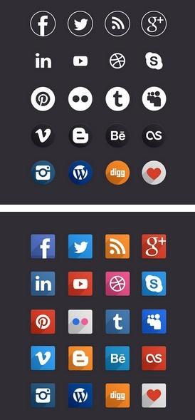 Socia Media Icons