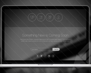 Thin HTML5 Coming Soon Template