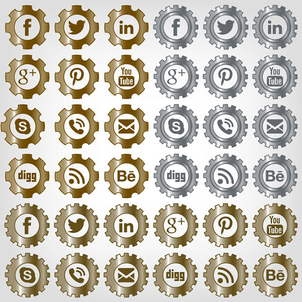 Clockwork Social Media Icons