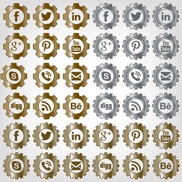 Clockwork Social Media Icons