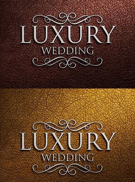 Luxury Wedding Logo Mockups
