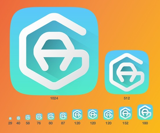 iOS AI Icon Vector Template