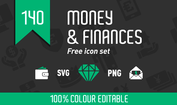 140 Money and Finances Icon Set
