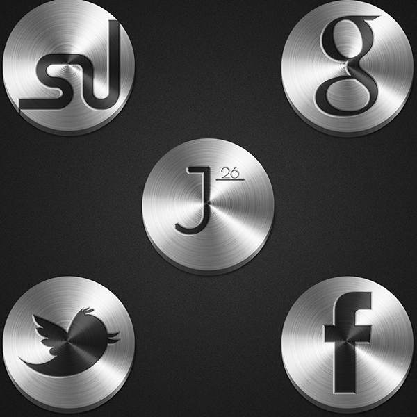 52 Metal Social Media Icons Free Download