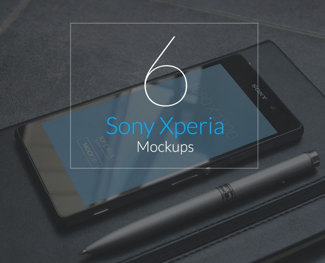 6 high resolution Sony Xperia mockups
