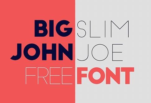 Big John & Slim Joe Font