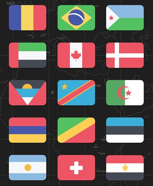 Countries Flags Vector PSD