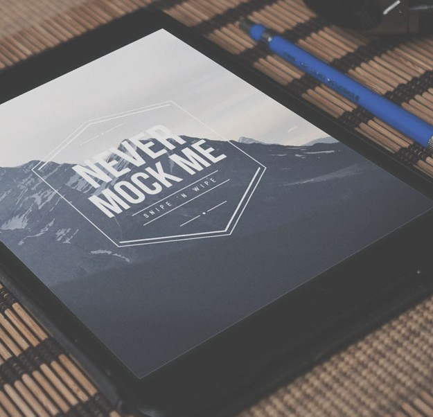 Dark iPad Mockup
