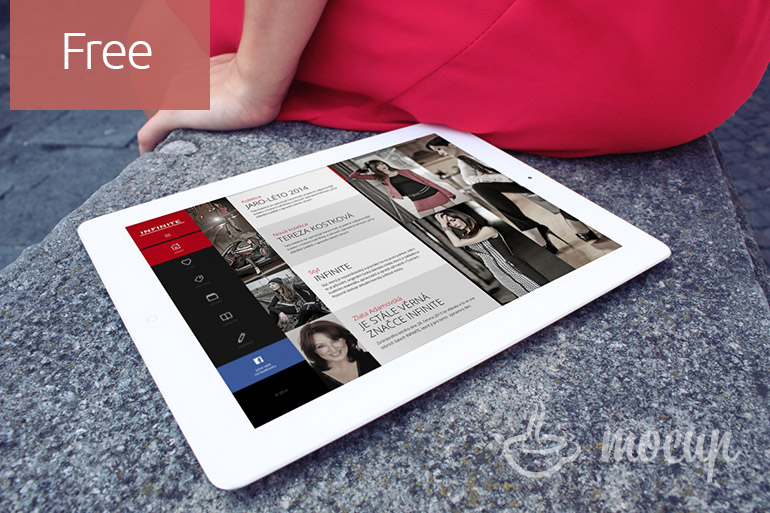 Free iPad MockUp Lady in Italy