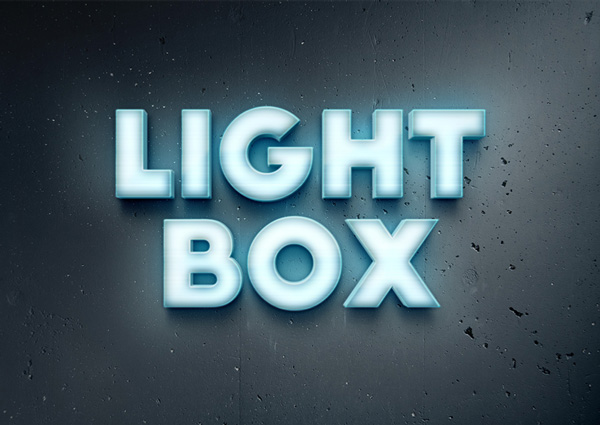 Lightbox Text Effect