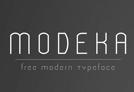 MODEKA Modern Typeface