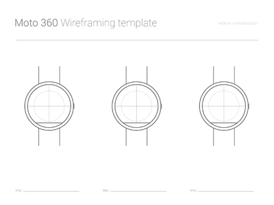 Moto 360 Wireframing template