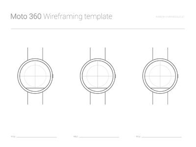 Moto 360 Wireframing template