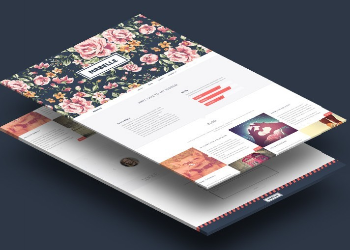 Mrbelle One Page Website Template PSD