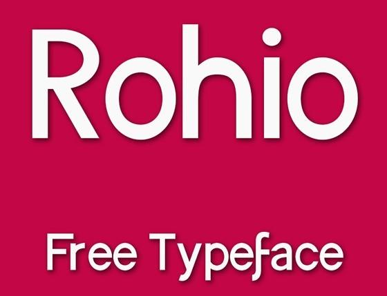 ROHIO Free Typeface