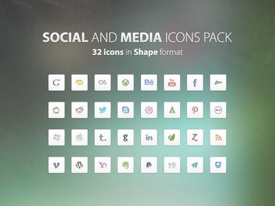 Social & Media Free PSD