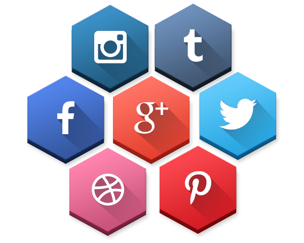 SocioHexs 40 Free Hexagonal Social Media Icons