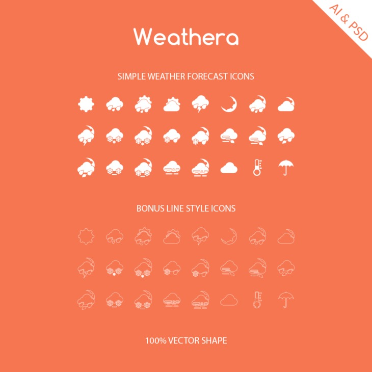 Weathera - Simple Weather Icons
