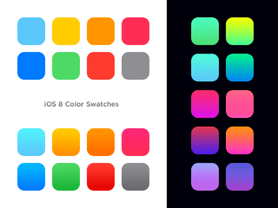 iOS 8 Color Swatches & gradients