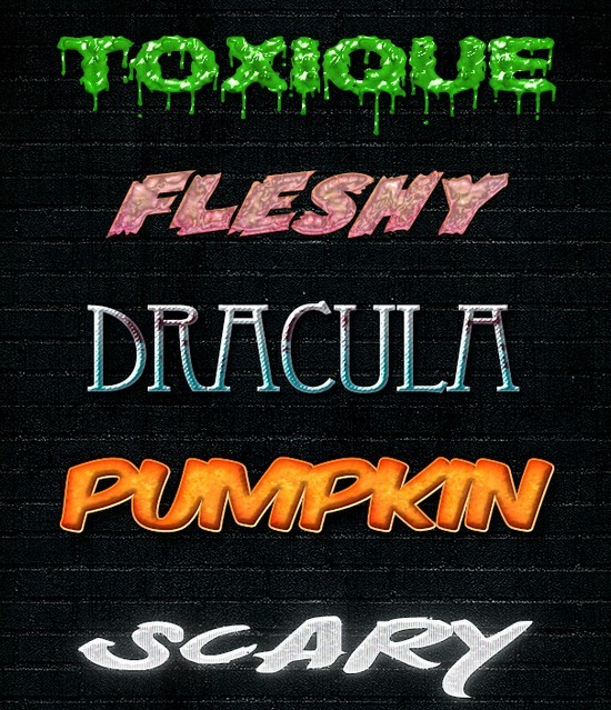 10 HALLOWEEN TEXT STYLES FREEBIE