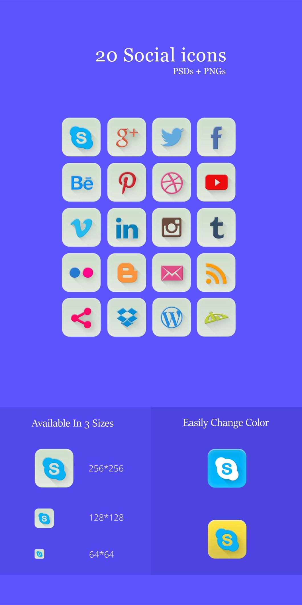 20 Social Icons