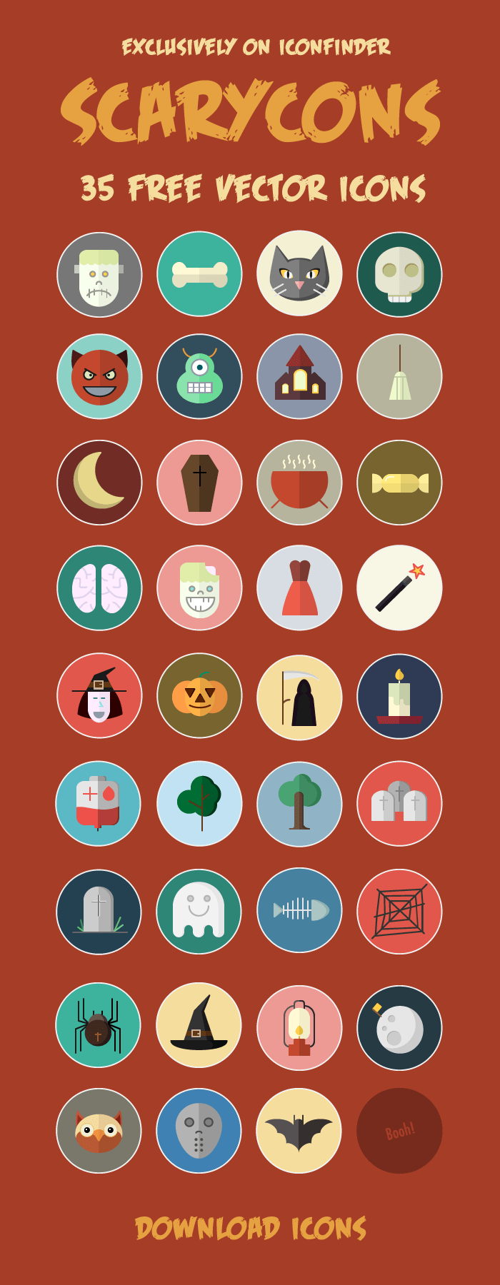 35 Free Vector Halloween Icons